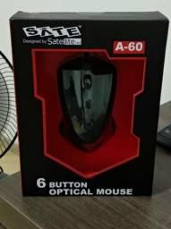 Mouse gamer Sate A-60 6 botões, novo na caixa