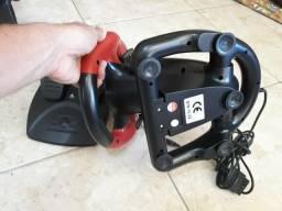 Volante e pedal PS2