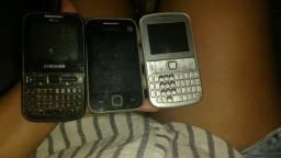 3 celulares da samsung duos simples