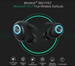 Explosão de Som - Fone 100% Sem Fio BW Fye2 Blitzwolf - Novo Lacrado - Original