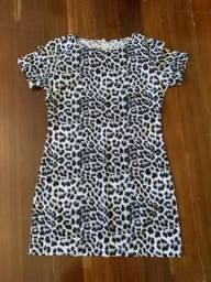 Vestido Novo Oncinha Preto e Branco - Tam. 38