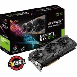Placa de Vídeo Asus Rog Geforce Gtx 1080Ti Strix 11Gb Gddr5x - Pci Exp