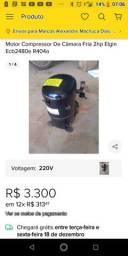 Motor compressor câmera fria