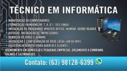 técnico em informática,Luzimangues e Palmas.