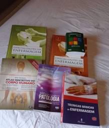 Kit de livros para estudantes de enfermagem
