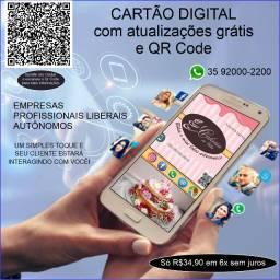 Cartão digital interativo com QR Code