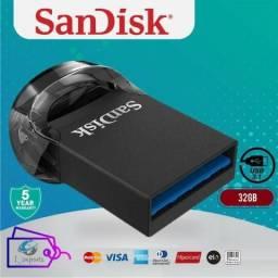 Pen Drive Ultra Fit SanDisk 3.1 32GB até 15X mais rápido