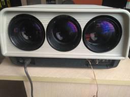 "Projetor Sony Super Bright VPH-1001Q + Tela da-lite Cosmopolitan electrol 110"" - 4x3"