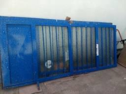 Porta de vidro com ferro