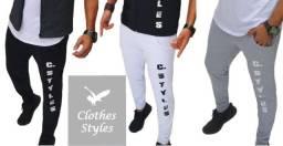 Kit 10 Calças R$39,90(un).Calças Moletom Slim Unissex Clothes Styles