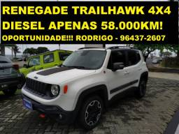 Novíssimo Jeep Renegade Trailhawk 4x4 Diesel 2016 com apenas 58.000km! Impecável!
