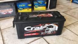 Bateria semi nova para caminhão 150 e 180 AH