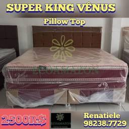 Título do anúncio: cama super king vênus    2 travesseiros de brinde