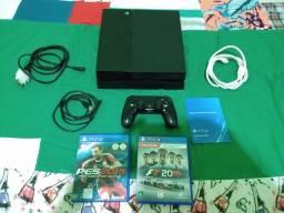 Título do anúncio: PS4 Playstation 4- 500gb - 1 controle- 2 jogos  - aceito cartão