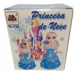Boneca princesa da neve a pilha