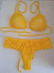 Título do anúncio: Biquíni de crochê pra vender logo