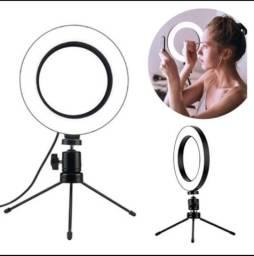 Título do anúncio: Ring Ligth 8 Polegadas de Mesa com Suporte de Celular Led Selfie Ideal para Youtuber
