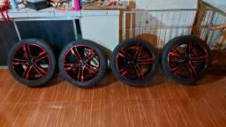 Título do anúncio: Rodas aro 17 com pneus