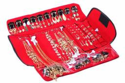 Kit com 55 peças para revenda acessórios folheados a ouro e prata