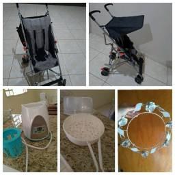 Vendo carrinho bebe, aquecedor de mamadeira, esterilizador de mamadeira e dossel de teto