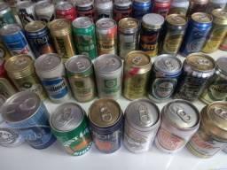 Vendo coleção de latinhas de cerveja cheias importadas e nacionais cheias