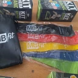 Título do anúncio: mini band faixa elástica treino kit completo + bolsa