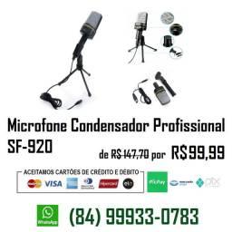 Microfone Condensador Sf-920 de Alta Qualidade c/ Tripé