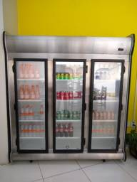 Título do anúncio: Refrigerador/Expositor Vertical Auto Serviço 3 Portas ACFM 1450L Preto Fricon