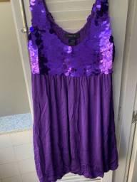 Vestido de Paetê Roxo- tam P