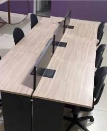 Título do anúncio: Mesa conjugada com 6 lugares e 6 cadeiras
