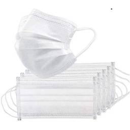 Título do anúncio: Kit com 50 máscaras descartáveis brancas