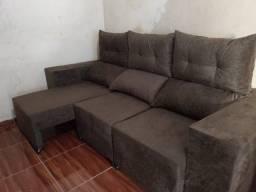 Título do anúncio: Sofa retratil 3 lugares reclinável confortável entrega grátis