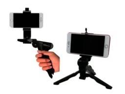 Título do anúncio: Estabilizador de mão e mini tripé para celulares e câmeras. Leia tudo