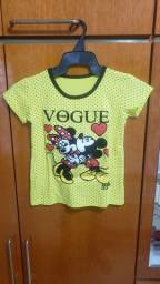Título do anúncio: Camiseta infantil feminina nova 5 anos
