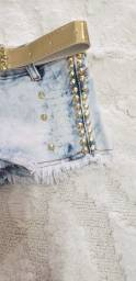 Título do anúncio: Shorts Jeans infantil novo tamanho 4 de 40,00 por 15,00