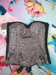 Título do anúncio: Espartilho blusa com bojo