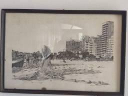 Gravura assinada Bruno Pedrosa Copacabana 1986