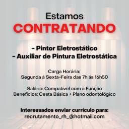 Título do anúncio: Empresa Contrata - Pintor Eletrostático