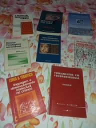 Diversos livros de fonoaudiologia