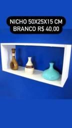 Título do anúncio: Móveis Decorativos Nicho Branco 50x25x15 cm - Me Liga