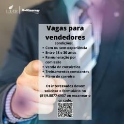 Título do anúncio: Vagas para vendedores com ou sem experiência