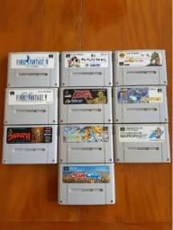 10 Jogos Super Nintendo  Original Japonês Ultima Vi Final Fantasy Simcity Shin Momotarou