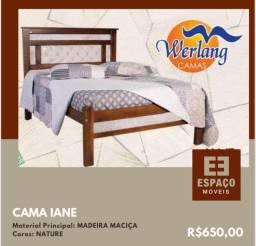Título do anúncio: Cama Casal em Madeira Maciça Iane #Entrega e Montagem Grátis