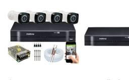 Kit 4 câmeras Intelbras novo ,R$ 1999,00 instalado.