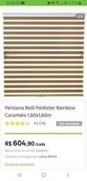 Título do anúncio: Persiana Rolô Poliéster Rainbow Caramelo 1,60x1,60m