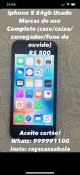 Título do anúncio: Iphone 5 64gb Usado