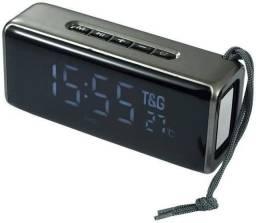Título do anúncio: Rádio relógio digital recarregável Bluetooth FM pendrive