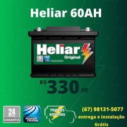 Título do anúncio: Bateria Heliar bateria 60ah bateria carro bateria automotiva