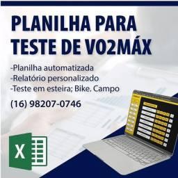 Título do anúncio: Planilha teste de Vo2max