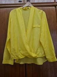 Camisa Amarela tamanho 46